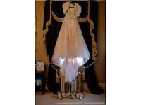 Ronald Joyce Elodie size 16 wedding dress in champagne