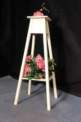 Chic Beistelltisch (Shabby Chic! Antiker Jugendstil Blumentisch Blumensäule hoher Beistelltisch Flur)