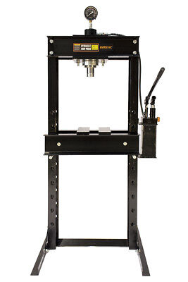 30 Ton Shop Press With Hand Pump Pressure Gauge H-frame Hydraulic Equipment 32