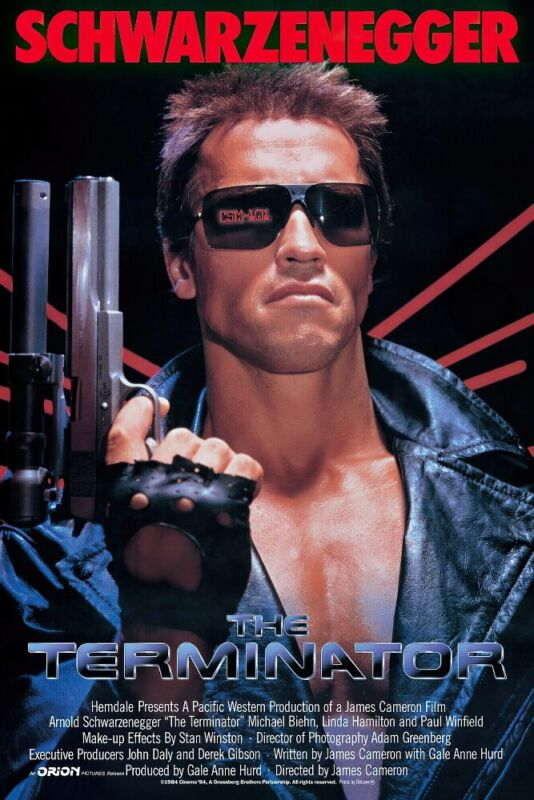 "THE TERMINATOR - MOVIE POSTER (REGULAR STYLE) (SIZE: 24"" x 36"")"