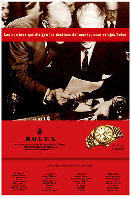 2331.Gold Rolex watch POSTER.Spanish.Home interior design - Gold Rolex Replica