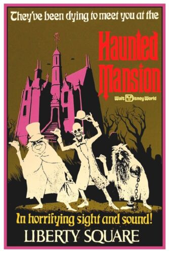 DISNEY WORLD HAUNTED MANSION - COLLECTOR POSTER 4 DIFFERENT SIZES  (B2G1 FREE!!)