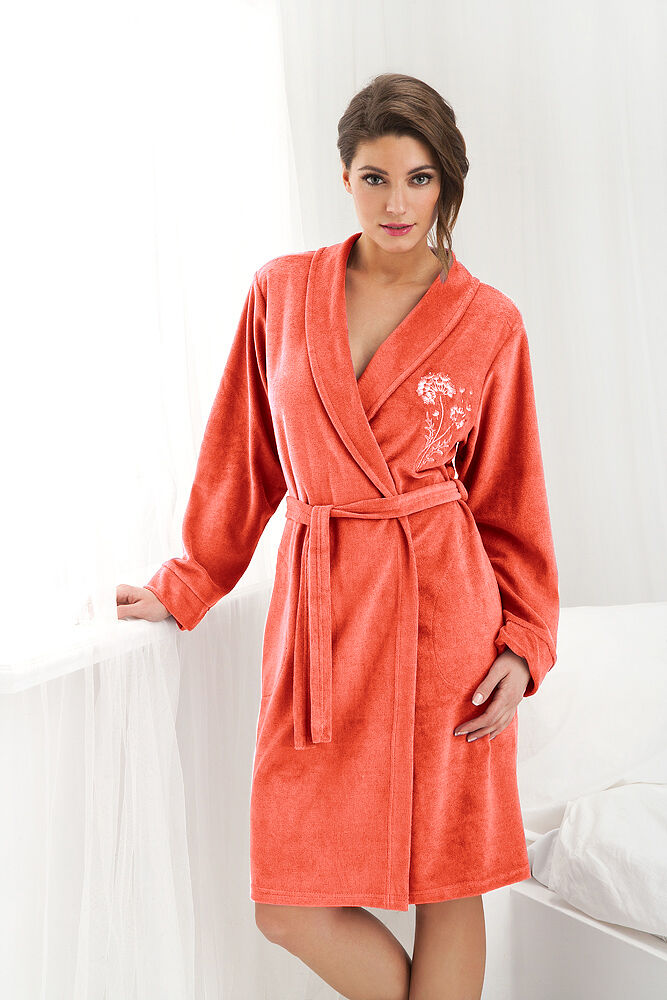 Womens\' Luxury Soft 100% Cotton, Knee-Length, Dressing Gown ...