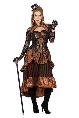 Steampunk Victoria Damen Kostüm Kleid Burning Man viktorianisch Industrial