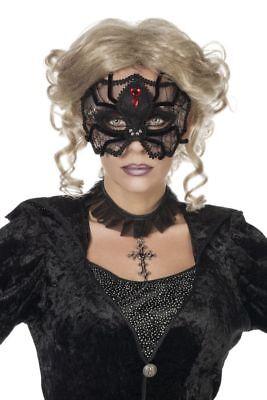 WIL - Maske Augenmaske Spinne Hexe Vampirin Halloween Karneval