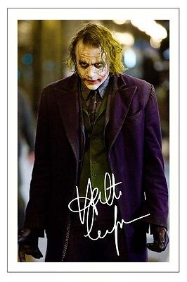 HEATH LEDGER THE DARK KNIGHT SIGNED PHOTO PRINT THE JOKER BATMAN