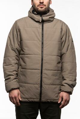 686 Warmix Puffy Snowboard Jacket Men Waterproof Insulated Tobacco L