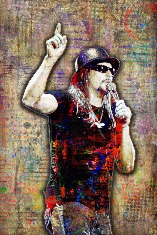 KID ROCK Tribute Poster Kid Rock Pop Art Print  12x18inch Free Shipping US