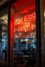 Are you ready to be a Sous? Work somewhere fun!!! - We need a Jnr Sous Chef to join Bad Egg - £28k