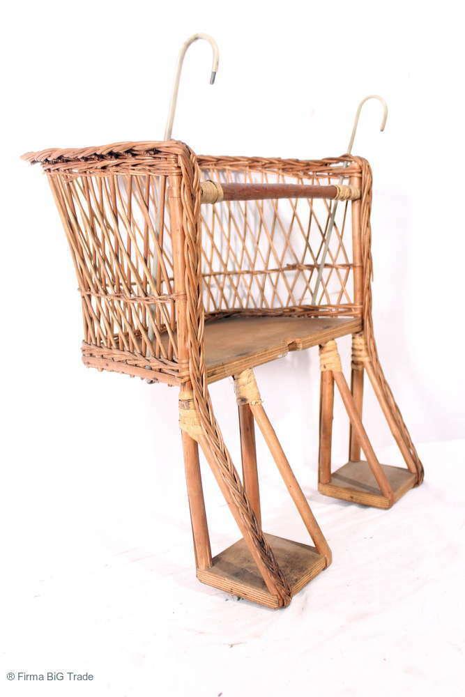 Antiker Fahrrad Rattan Kindersitz Kinderkorb Fahrradkor… |
