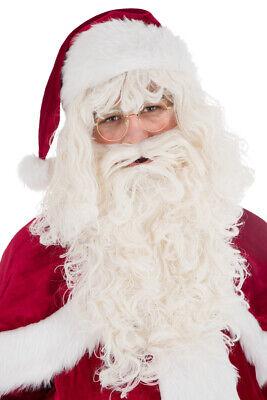 Set Bart und Perücke Nikolausperücke Nikolaus Weihnachtsmann de Luxe