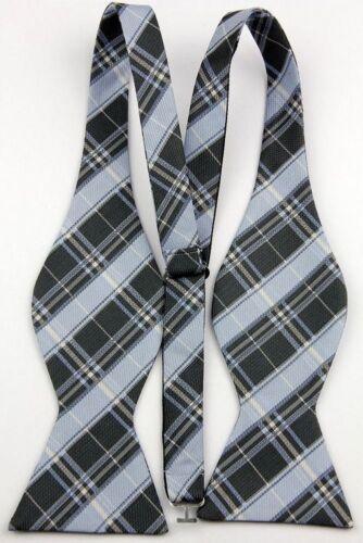 Black Yellow Bowtie Men/'s Wedding Elegant Self Bow Tie+Match Handkerchief L061