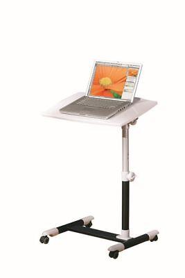 Laptoptisch Pult Stehpult Beistelltisch höhenverstelbar weiß schwarz L-Alox Weiß Stehpult