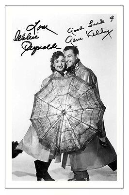 GENE KELLY & DEBBIE REYNOLDS SINGIN' IN THE RAIN AUTOGRAPH SIGNED PHOTO PRINT