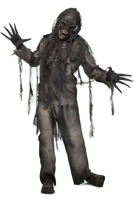 Verbrannter Zombie 3D Herren-Kostüm Gr. L-XL Eingeweide Wunden offener Brustkorb