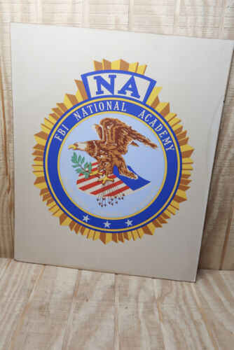 Vntg FBI National Academy Cardboard 20x24 Poster US Law Enforcement Memorabilia