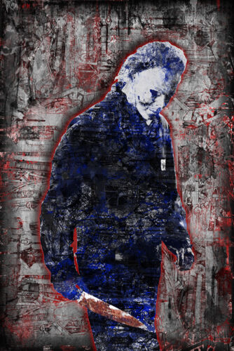 Michael Myers of HALLOWEEN Poster, Halloween Horror Print 24x36in Free Ship