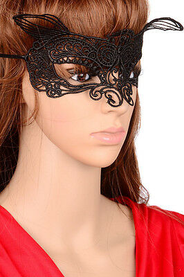1PC Black Sexy Lace Mask Cutout Eye Mask for Halloween Masquerade Party Costume - Cutouts For Halloween