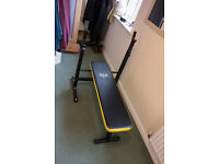 Everlast Weight Bench - Black & Yellow - Excellent Condition