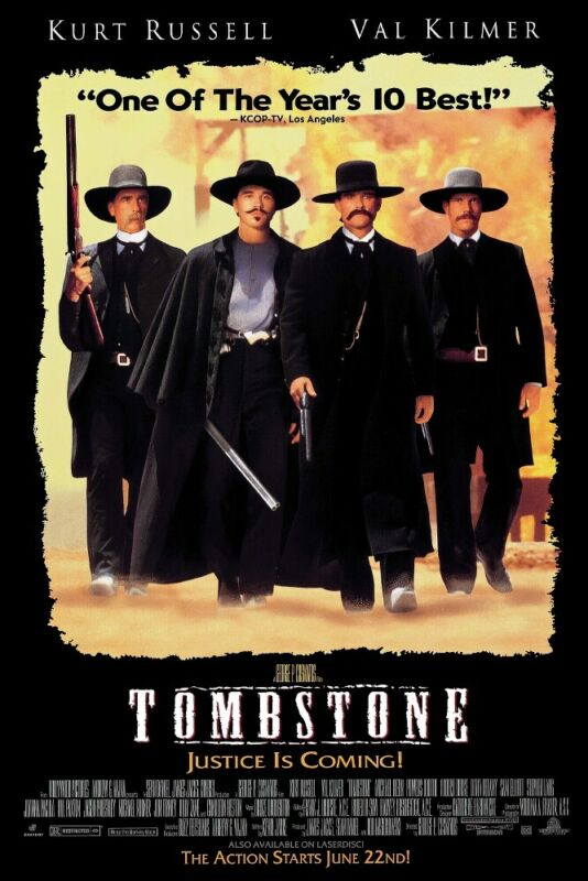"""Tombstone - Movie Poster (Regular Style - Black Version) (Size: 24"""" X 36"""")"""
