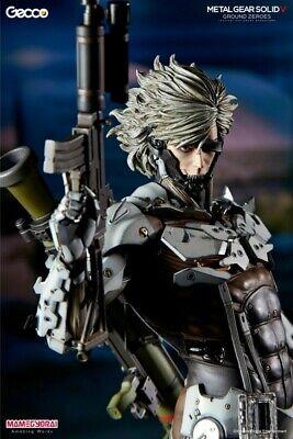 RAIDEN WHITE AMORE verMETAL GEAR SOLID GROUND ZEROS JAMEVU MISSION Statue (Metal Gear Solid Ground Zeroes Raiden Mission)
