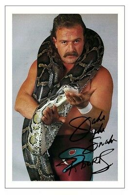 JAKE THE SNAKE ROBERTS WWE WRESTLING SIGNED PHOTO PRINT AUTOGRAPH