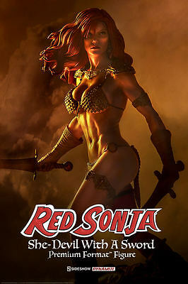 Red Sonja Premium Format Figure by Sideshow Collectibles Statue Dynamite Comics