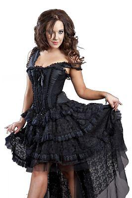 Burleska Kleid Dark Ophelia-GOTHIC-HOCHZEIT-WGT-Spitze-Korsett-Romanticgoth - Spitze Hochzeit Korsett