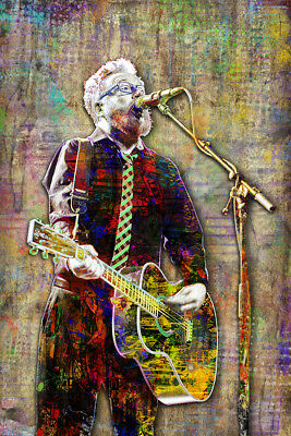 FLOGGING MOLLY Poster, Dave King of Flogging Molly Tribute 12x18in Free Shipping