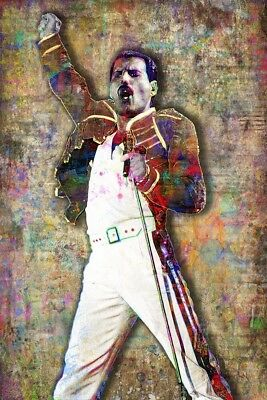 QUEEN FREDDIE MERCURY 20x30in Poster Freddie Of Queen Tribute Free Shipping