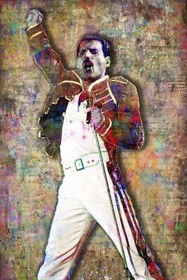 QUEEN FREDDIE MERCURY 12x18in Poster Freddie Of Queen Tribute Free Shipping