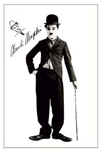 CHARLIE CHAPLIN  SIGNED PHOTO PRINT POSTER AUTOGRAPH POSTER
