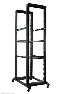 42U Open Frame Network Server Rack 1000MM Deep 4 Post 3 Pairs of L-Rails 2 (42 Deep Racks)