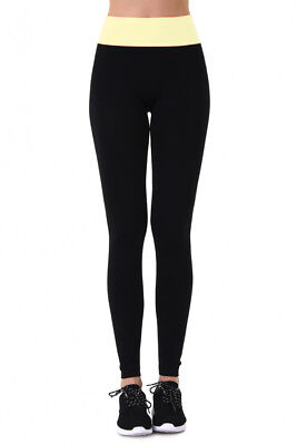 High-Waisted, Super Soft, Comfy, Two Tone, Free Size Leggings by Sofra Comfy Footless Leggings