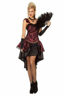 Burlesque Saloon Can Can Damen Kostüm Kleid Moulin Rouge Wilder Westen -