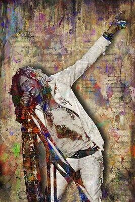 Steven Tyler Poster, Aerosmith Artwork, Steven Tyler Pop 12x18inch Free Shipping