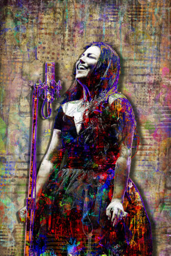 Amy Lee of Evanescence Poster Evanescence Tribute Art 20x30in Free Shipping US