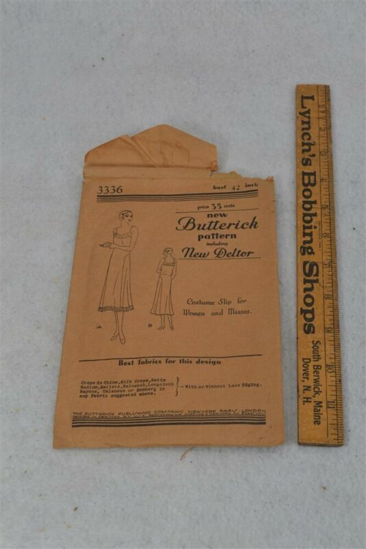 antique pattern Butterick New Deltor slip for women Bust 42 never used
