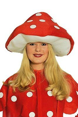 Hut Fliegenpilz Pilzhut Mütze Glückspilz Erwachsene Karneval Fasching Cosplay