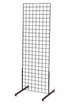 2 X 6 Grid Wall Standing Fixture - Black