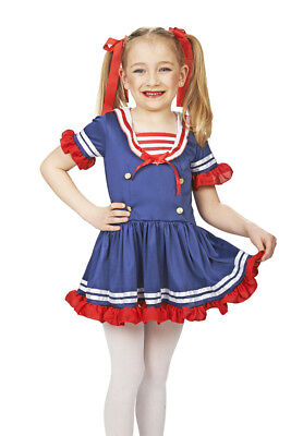 Kleine Matrosin Kostüm für Mädchen Matrose Marine Sailor Girl Anime Manga Kleid
