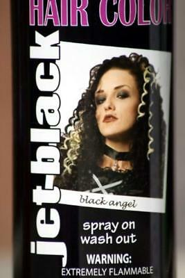 Spray On Wash Out Black Hair Color Temporary Hairspray Great For Costume or Hall