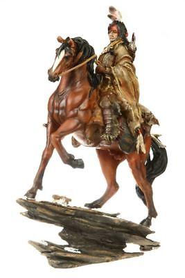 Indianer Figur Reiter auf Pferd Western Winnetou Apachen Sammlerfigur I58