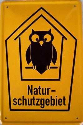 Naturschutzgebiet Blechschild, 20 x 30 cm, leicht gewölbt