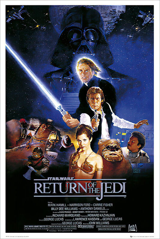 "Star Wars: Episode VI -Return Of The Jedi - Movie Poster (Regular) (24"" X 36"")"