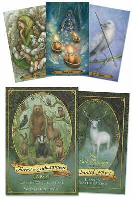 Forest of Enchantment Tarot KIT Deck Cards & Book Set Wiccan Pagan Metaphysical Cards Book Kit