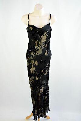 ANOUSHKA Black Embellished Sequin Dress, UK 8 US 4 EU 36