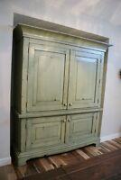By LIKEN: Reclaimed Wood Office Suite Desk Armoire.