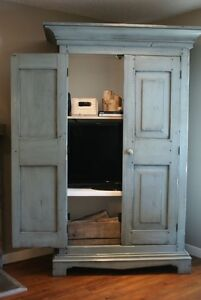 Solid Wood Media Armoire - Choice of Colours! By LIKEN Woodworks