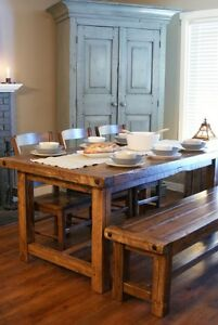 Rustic Provencal Dining Table - All Solid Wood - and More! By LIKEN Woodworks